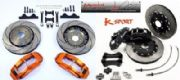 K-Sport Rear Brake Kit 4 Pot 330mm Discs Ford Focus 2004 Onwards